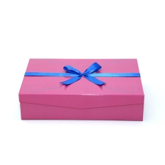 Rectangular Gift Box Manufacturers, Pink Gift Box With Ribbon